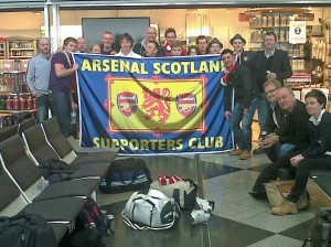 Some of Arsenal Scotland at Munich Airport